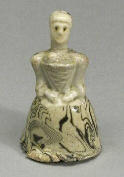 Staffordshire White Salt Glazed Stoneware Solid Agate Figure of a Lady