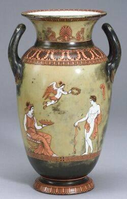 Alcock Transfer Printed Porcelain Vase