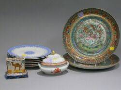 Group of Decorated Pottery and Porcelain