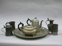 Seven Pieces of Assorted Pewter