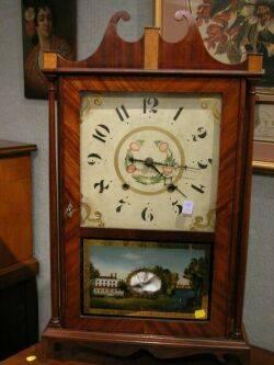 Eli Terry Mahogany Pillar and Scroll Clock