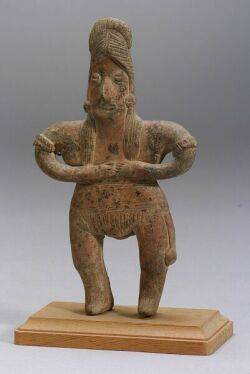 PreColumbian Female Pottery Figure