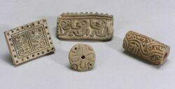 Four PreColumbian Pottery Stamps