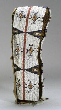 Plains Beaded Hide and Cloth Cradle