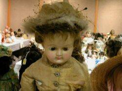 Large Wax over Papiermache Shoulder Head Doll