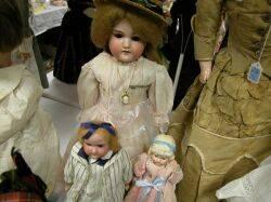 Three German Bisque Shoulder Head Dolls
