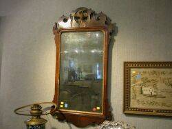 Chippendale Walnut and Gilt Gesso Mirror