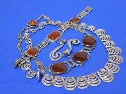 Small Group of Sterling Silver and Marcasite Jewelry