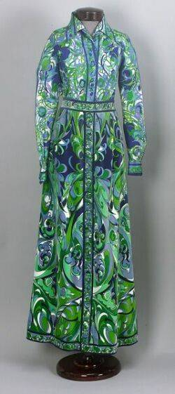 Emilio Pucci Twopiece Silk Blouse and Velvet Skirt Outfit