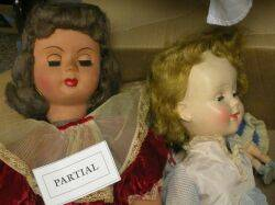 Large Lot of Dolls Trunk and Clothing