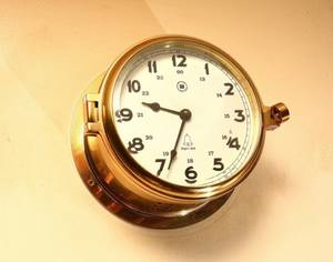 Ships Bell Reproduction Clock