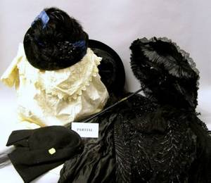 Assortment of Late Victorian Edwardian and Early 20th Century Clothing and Accessories