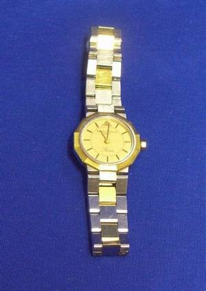 Ladys 18kt Gold and Stainless Steel Wristwatch Baume  Mercier