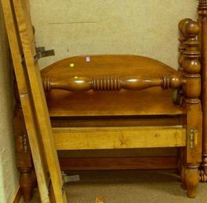 Pair of Maple Cannonball Beds