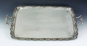 Philadelphia silver tray ca 1820