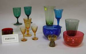 Approximately Fortynine Pieces of Assorted Colored Glass