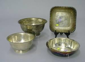 Three American Sterling Silver Bowls