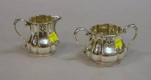 English Sterling Silver Creamer and Sugar Set