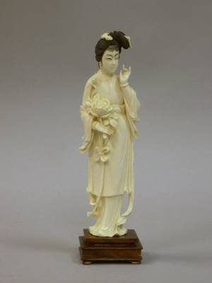 Chinese Ivory Carving of a Woman