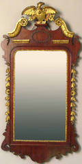 Federal style mahogany and giltwood mirror