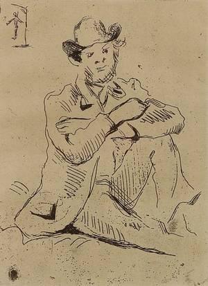 Lot of Four Framed Prints Paul Czanne French 18391906 Portrait de Peintre A Guillaumin au Pendu