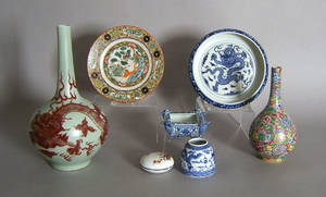 Seven pcs of contemporary Chinese porcelain