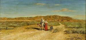 Attributed to Benjamin Constant French 18451902 The Travelers