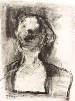 Michael Mazur American b 1935 Portrait From the Asylum
