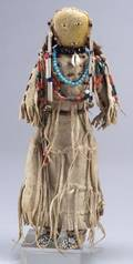 Central Plains Beaded Hide Doll