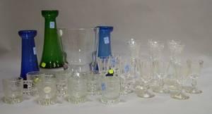Twentyfive Pieces of Assorted Glassware