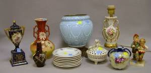Thirteen Assorted Ceramic and Glass Table Items