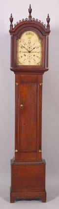Cherry Tall Case Clock with Dial