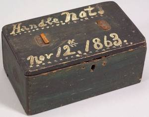 Painted Pine Box Dated 1863