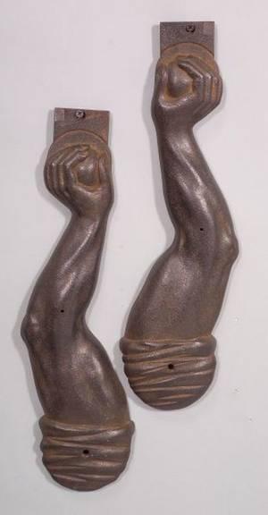 Pair of Cast Iron Arm Shelf Brackets