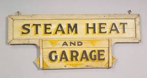 Steam Heat and Garage Painted Wooden Sign