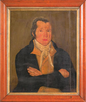 Oil on panel portrait of a gentleman early 19th c