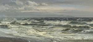Henry Moore British 18311895 Waves Breaking on a Beach