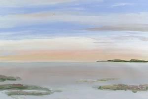 David Kupferman American 20th Century Lot of Three Landscape Views Including Pink Sky