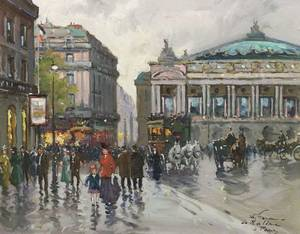 Francois Gerome French 20th Century Paris Opera