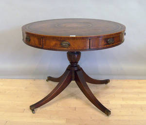 Regency style drum table by Weiman