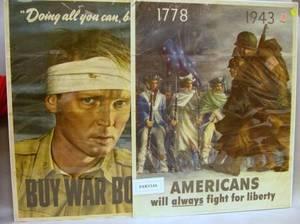 Three World War II Chromolithograph Posters