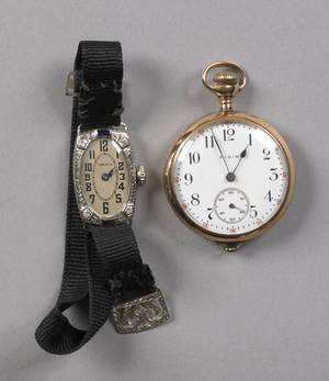 Ladies Gruen wrist watch with a 14K white gold case