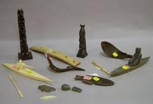 Nine Assorted Inuit Items