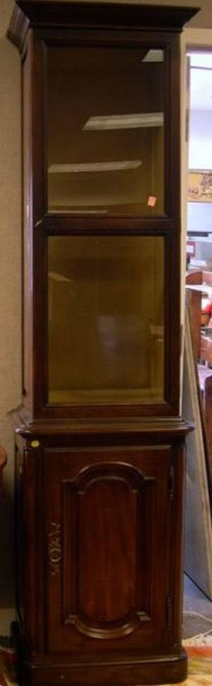 French Provincial Style Stained Fruitwood Display Cabinet