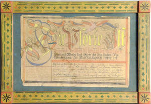 Contemporary watercolor fraktur