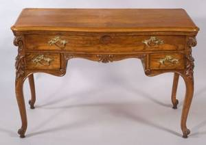 Louis XV Style Walnut Dressing Table