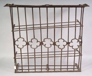 Gothicstyle Wrought Iron Architectural Panel