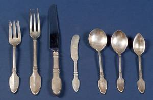 Graff Washbourne  Dunn Sterling Robert Bruce Flatware Service