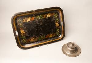 Painted tole tray 19th c