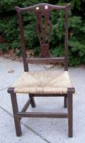 Country Chippendale Oak Side Chair